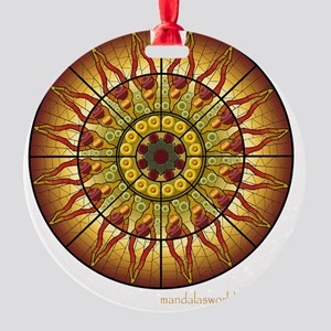 Modernist Art Palau Musica n1a Round Ornament
