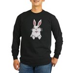 Pocket Easter Bunny Long Sleeve Dark T-Shirt