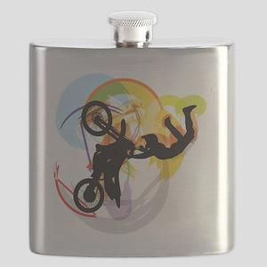 Motocross Puzzle 13 Flask