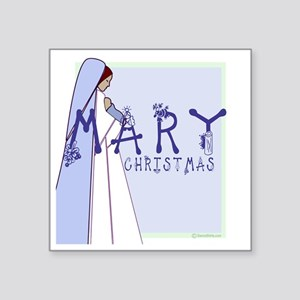 """madonna and child with mary Square Sticker 3"""" x 3"""""""
