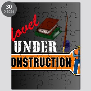 Novel under construction pillow with pics b Puzzle