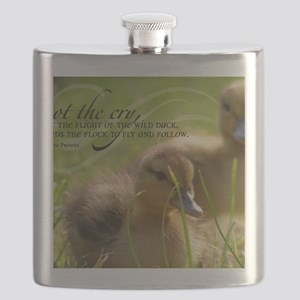 Fly and Follow Quote on Jigsaw Puzzle Flask