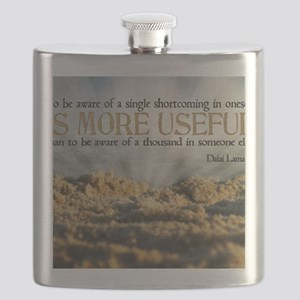 Shortcoming Quote on Jigsaw Puzzle Flask
