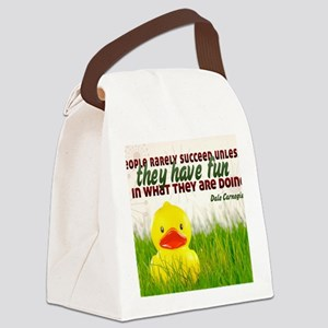 Succeed Quote on Jigsaw Puzzle Canvas Lunch Bag