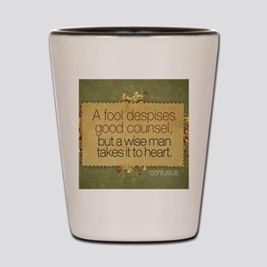 Wise Man Quote on Jigsaw Puzzle Shot Glass