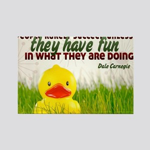 Succeed Quote on Jigsaw Puzzle Rectangle Magnet