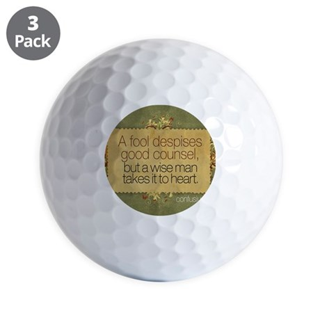 Wise Man Quote on Jigsaw Puzzle Golf Balls