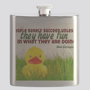 Succeed Quote on Jigsaw Puzzle Flask
