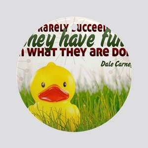 Succeed Quote on Jigsaw Puzzle Round Ornament