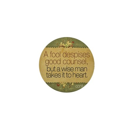 Wise Man Quote on Jigsaw Puzzle Mini Button