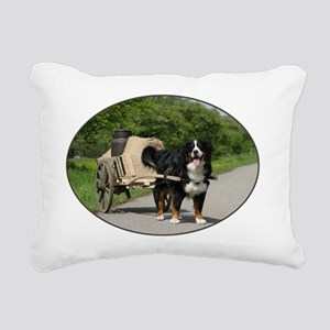 bernese_oval Rectangular Canvas Pillow