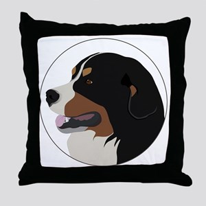 bernese_vector Throw Pillow