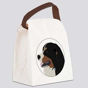 bernese_vector Canvas Lunch Bag