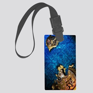 iPod Touch 2 Blue Grunge Steampu Large Luggage Tag