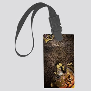 iPod Touch 4 Brown Grunge Steamp Large Luggage Tag