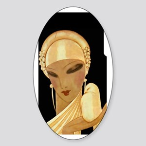 3G-iphone-1 Vogue-W-Bird Sticker (Oval)