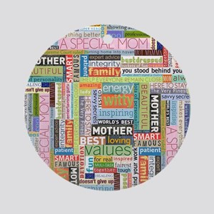 Mothers Day Square Round Ornament