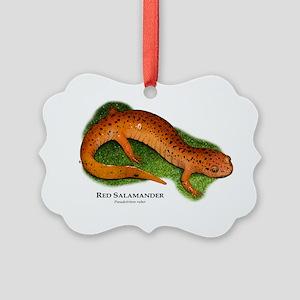 Red Salamander Picture Ornament