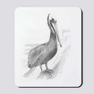 Pelican Pencil Drawing by Brooke Scovil Mousepad