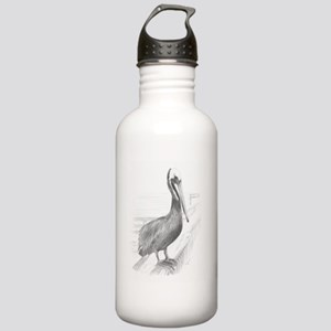 Pelican Pencil Drawing Stainless Water Bottle 1.0L