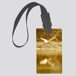 Strength and Peace Card Large Luggage Tag