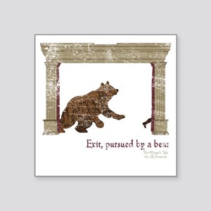 "ShakesBear Square Sticker 3"" x 3"""