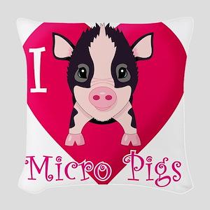 Micropig_N_multi Woven Throw Pillow