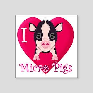 """Micropig_N_multi Square Sticker 3"""" x 3"""""""