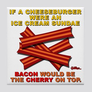 vcb-bacon-cherry-on-top-2011a Tile Coaster
