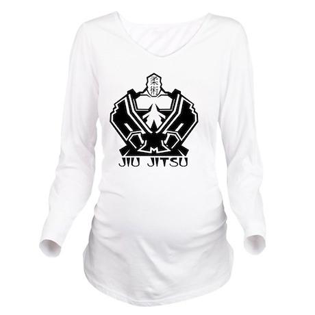 Jiu Jitsu Long Sleeve Maternity T-Shirt