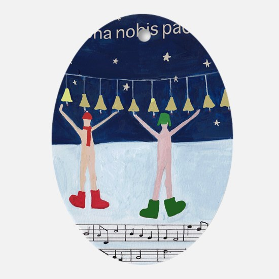 dona-nobis-pacem.gif Oval Ornament