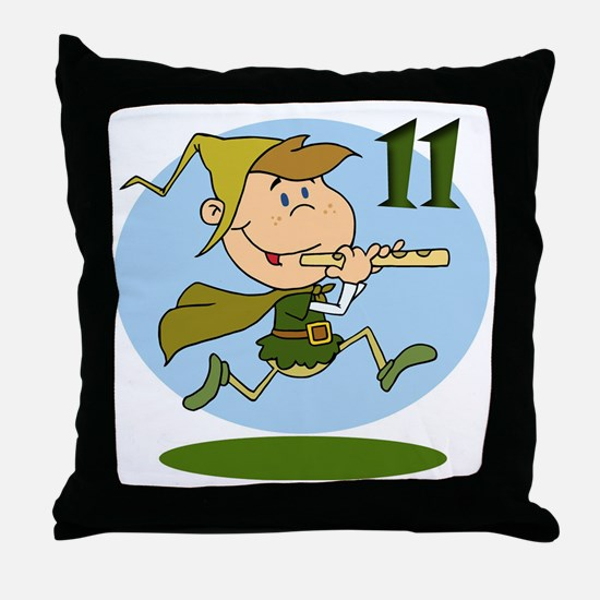 11 pipers Throw Pillow