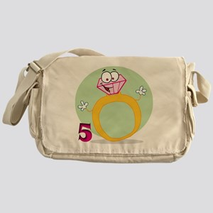 5 rings Messenger Bag
