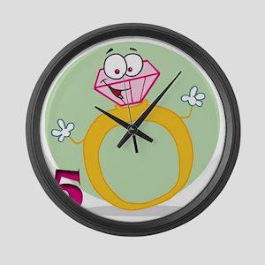 5 rings Large Wall Clock