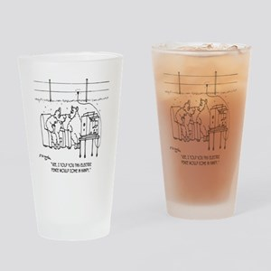 3217_sheep_cartoon Drinking Glass