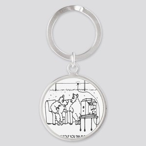3217_sheep_cartoon Round Keychain