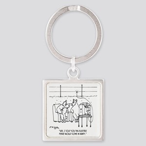 3217_sheep_cartoon Square Keychain