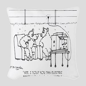 3217_sheep_cartoon Woven Throw Pillow