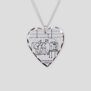 3217_sheep_cartoon Necklace Heart Charm