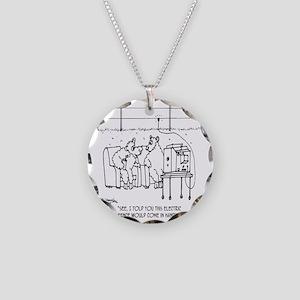 3217_sheep_cartoon Necklace Circle Charm