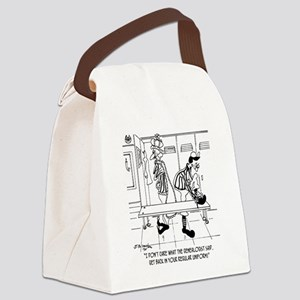 6704_referee_cartoon Canvas Lunch Bag