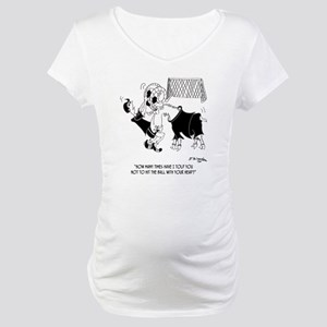 8660_soccer_cartoon Maternity T-Shirt
