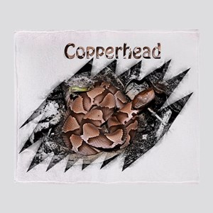 Copperhead shirt 2 Throw Blanket