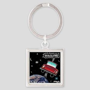 8638_GPS_cartoon Square Keychain