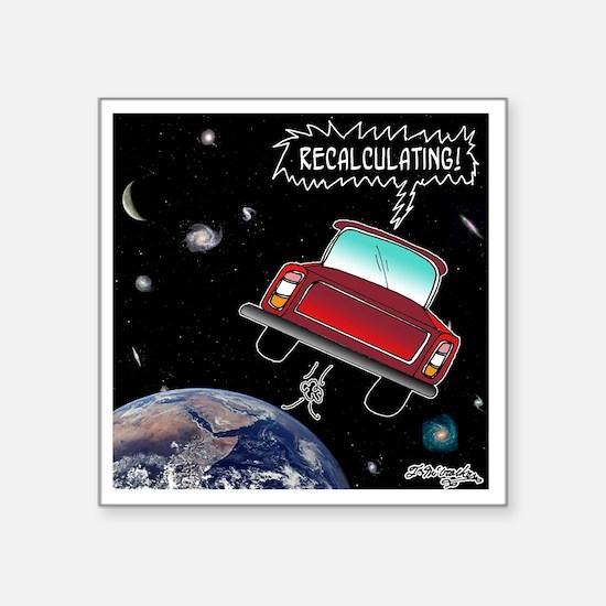 "8638_GPS_cartoon Square Sticker 3"" x 3"""