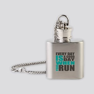 Every Day Is A Good Day When You Run Flask Necklac