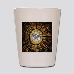 Dove Window at St Peters Basilica puzzl Shot Glass