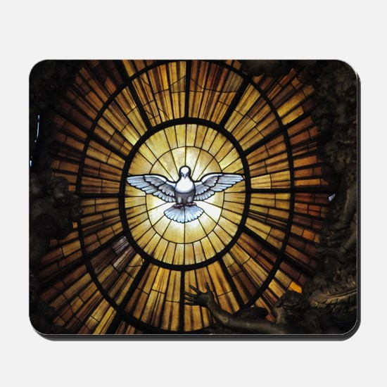 Dove Window at St Peters Basilica puzzle Mousepad