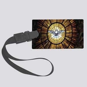 Dove Window at St Peters Basilic Large Luggage Tag