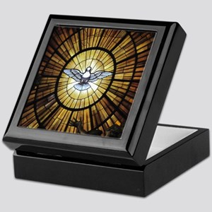 Dove Window at St Peters Basilica puz Keepsake Box